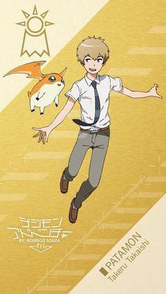 Takeru Takaishi - T.K. _ PATAMON Digimon Adventure