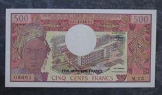 1981 Republic of Cameroun 500 Francs Banknote; P15d;  CU Uncirculated