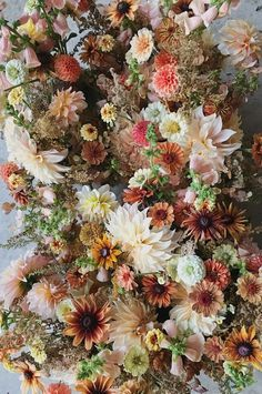 These seasonal autumn wedding flowers were designed in a muted color palette of amber, burnt umber, gold, peach, and cream. Winter Wedding Flowers, Autumn Wedding, Floral Wedding, Autumn Flowers, Church Wedding, Rustic Wedding, Wedding Flower Arrangements, Floral Centerpieces, Floral Arrangements