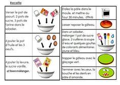 gâteau gloups 2 Easy Meals, Easy Recipes, Food Illustrations, Cycle 1, School, Tableware, Desserts, Nursery School, Illustrated Recipe