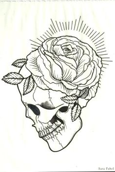 Linework by Sara Fabel Miguel Angel Garcia, Sara Fabel, Skull Coloring Pages, Ink Addiction, Desenho Tattoo, Tattoo Project, Tattoo Outline, Skulls And Roses, Future Tattoos
