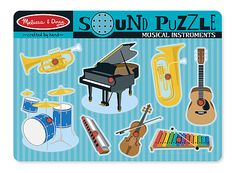 Melissa & Doug Musical Instruments Sound Puzzle- 8 Pieces