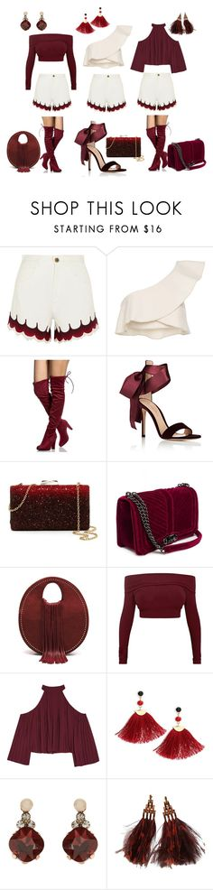 """Hues of Burgundy"" by my-803fashion ❤ liked on Polyvore featuring Chloé, Isabel Marant, Gianvito Rossi, Natasha, W118 by Walter Baker, Shashi, Accessorize and Louis Vuitton"