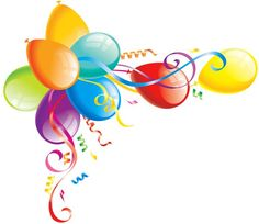 birthday background with colored transparent balloons vector 05 rh pinterest com