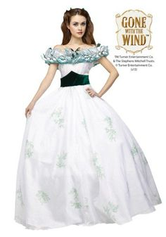 This Women's Gone With The Wind Scarlett O'Hara Dress will have you ready to use all those movie quotes you've been practicing!