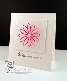 Your Next Stamp CAS Card by Karen featuring Flower Fun Die Two and YNS Whatnot Sentiments Set Two