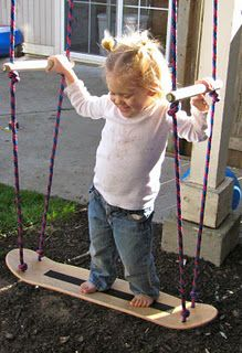 """Skate board swing: DIY tutorial....think I really love this...but am fighting that nagging voice in my head that says """"we don't have time for an ER visit"""".. :)"""