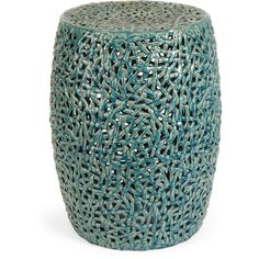 Tobias Cutwork Turquoise Ceramic Garden Stool - Overstock™ Shopping - Great Deals on Imax Garden Accents
