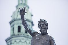 Neptune (aka king Christian IV who built Frederiksborg Castle). From the fountain in the outer courtyard