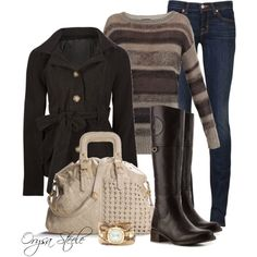 """Fall for Me"" by orysa on Polyvore  I wish I could pull off skinny jeans."