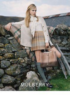 Cara Delevingne for Mulberry 2014.