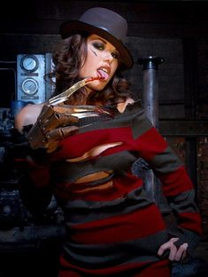 Female Freddie Krueger.... there is no female Freddy. And even if there was, there would be burns.  It'd be scary not slutty.