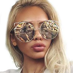 """California Girl""  2017 Mirror Lens Sunglasses Women for Driving"