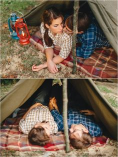 Love these camping engagement photos  - click to view more!
