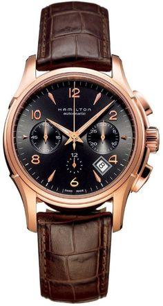 Gold Watches men Hamilton Men's HML-H32646595 Jazzmaster Brown Dial Watch Shop to buy