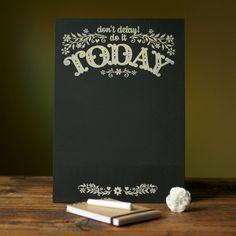 Today List Chalkboard Organizer (by Alexandra Snowdon)