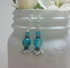 Check out this item in my Etsy shop https://www.etsy.com/listing/228625319/blue-earrings-simple-jewelry-for