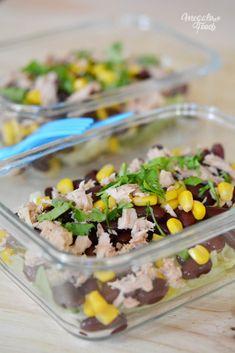 Salade thon mais haricots rouges