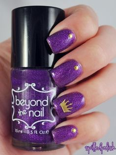 Nailpolis Museum of Nail Art | Purple Princess by Maddy S
