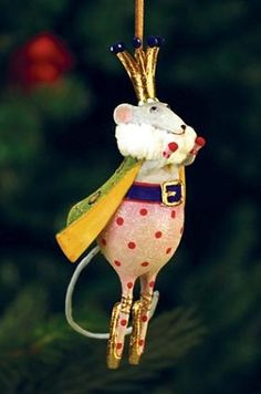 2013 Patience Brewster Krinkles, Mouse King Mini Ornament