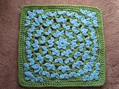 Floral Fantasy Afghan Square pattern by Julie Yeager [10ply yarn; 6mm hook]