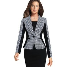 With fine tailoring this one button double-breasted blazer may make your coworkers take all your suggestions more seriously.
