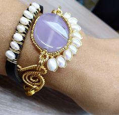 Crochet Earrings Pattern, Beaded Bracelets, Necklaces, Wire Pendant, Wire Wrapped Jewelry, Jewerly, Gemstone Rings, Jewelry Making, Gold