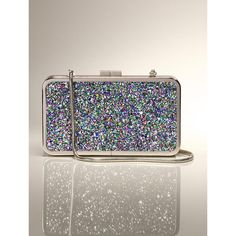 Glitter Box Clutch ($35) ❤ liked on Polyvore