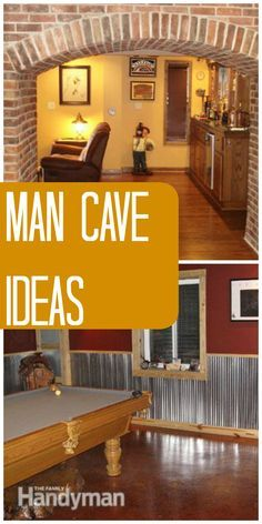 Man Cave Ideas: Get inspired to create your own perfect man cave retreat with these room