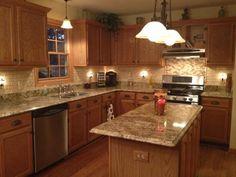 Ryan Homes Cherry Bordeaux Cabinets And Santa Cecilia