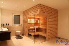 Isolierte Sauna mit Querverbretterung