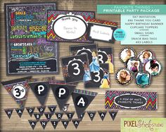 Favorite Things Printable PARTY PACKAGE with by PixelStickStudio, $56.00