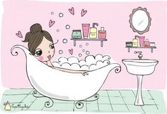 The Beauty Box by Jana Magalhães Bath Art, Bathroom Art, Mosaic Bathroom, Bubble Bath Soap, Bubble Drawing, Beauty Box, Bubbles Wallpaper, Bath Detox, Sexy Drawings