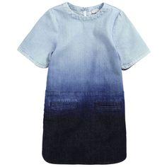 Stella McCartney Kids - Tie & Dye blue denim tencel dress - 52112