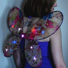 Angel wings, beginning soft circuits