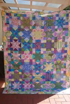 Beautiful starry quilt