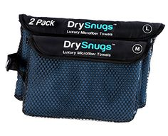 DrySnugs  Microfiber Travel Towels 2 PACK Large and Medium  Compact Fast Dry Towels For Travel and Sports >>> You can get additional details at the image link. (Note:Amazon affiliate link)