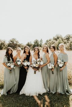 favorite bridesmaids dresses in every color – The Internet's Maid of Honor Bohemian Bridesmaid, Bohemian Wedding Dresses, Wedding Bridesmaids, Mint Green Bridesmaids, Spring Bridesmaid Dresses, Mismatched Bridesmaid Dresses, Bridal Party Dresses, Sage Wedding, Spring Wedding