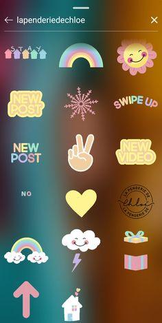 Creative Instagram Photo Ideas, Instagram Story Ideas, Instagram Emoji, Instagram Feed, Instagram Editing Apps, Gifs, Interactive Posts, Happy Sun, Stickers