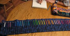Colored pencil roll-up