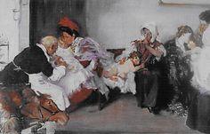 Vacunación de niños. Vicente Borrás. 1898. Localización: Museo Nacional del Prado (Madrid). https://painthealth.wordpress.com/2016/03/03/vacunacion-de-ninos/