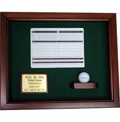 Great Golf Memories Personalized Classic Hole-In-One Display Case at Golfsmith.com