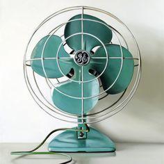 fc01079f2 Teal Fan Retro Klasika, Klasická Výzdoba Domácnosti, Produktový Design,  Industriální Dekor, Výzdoba