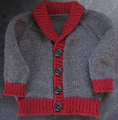 Shawl-collared classic cardigan styled for the little ones. Shawl-collared classic cardigan styled for the little ones. Generous sizing allowance and fit for boys and girls with optional buttonhole pla. Knitting Patterns Boys, Baby Boy Knitting, Knitting For Kids, Free Knitting, Cardigan Pattern, Baby Cardigan, Knit Cardigan, Toddler Cardigan, Pull Bebe