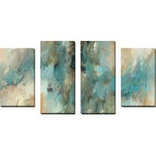 """Vital Intercession"" by Mark Lawrence 4 Piece Painting Print on Wrapped Canvas Set"