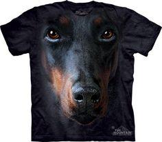 Doberman Shirt Tie Dye Pincher Dog Face Adult T-shirt Tee Doberman Pinscher T-shirts Available in Small, Medium, Large, XL, & Officially Perro Doberman Pinscher, Doberman Dogs, Dobermans, Black Doberman, Chien Dobermann, Eyes Nose, T Shirt Chien, Pincher Dog, Dachshund Funny