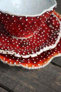Ceramic Tableware, Ceramic Bowls, Ceramic Pottery, Ceramic Art, Porcelain Ceramic, Slab Pottery, Pottery Vase, Ceramic Mugs, Mushroom Tea