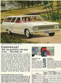 1964 Chevrolet Chevelle 300 Two Door Six-Passenger Station Wagon