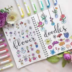 Flower Doodles Discover 48 Bullet Journal Doodle Ideas Perfect for Beginners Would you like to learn how to add doodles to your bullet journal? The internet is filled with fun and creative bullet journal doodle ideas and tutorials. Bullet Journal Essentials, Bullet Journal Books, Bullet Journal Layout, Bullet Journal Ideas Pages, Bullet Journal Inspiration, Bullet Journal For Beginners, Doodle Art For Beginners, Easy Doodle Art, Doodle Learn