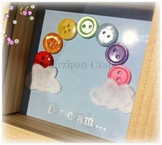 Dream rainbow in a mini natural wood box frame. £10.00 from Marzipan Crafts